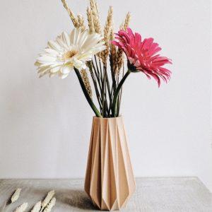 Vase origami en impression 3D et produit éco-responsable