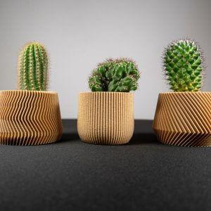 Cache pot original fabriqué à Lyon par Minimum design avec une imprimante 3D