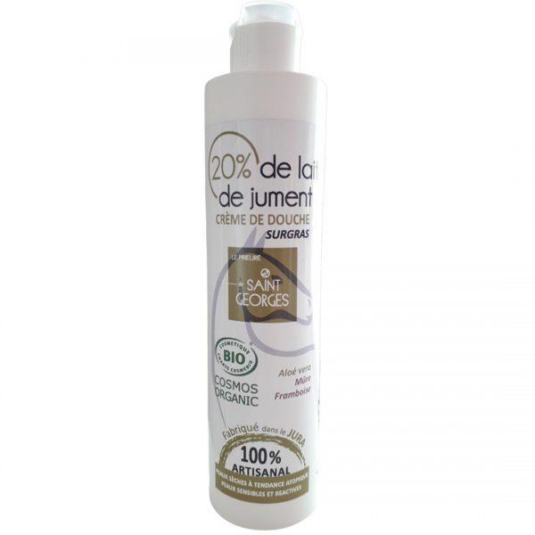 Crème douche BIO au lait de jument, huile d'olive et aloé vera