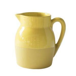 Pichet d'eau 1l jaune moutarde en grès naturel de Digoin