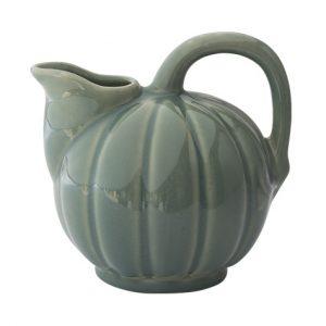 Pichet d'eau en grès naturel de Digoin en forme de melon, Fabriqué par la Manufacture de Digoin