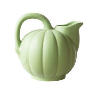 Pichet melon de la Manufacture de Digoin en grès naturel verveine citronnée