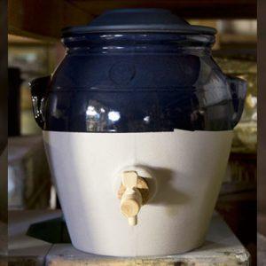 Pot à vinaigre et vinaigrier de la Manufacture de Digoi, vinaigre maison