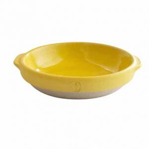 Plat rond – Jaune moutarde