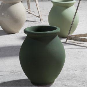 Jarre menton en grès de DIGOIN fabriqué en France par les artisans de la manufacture de Digoin 71, pot de jardin français