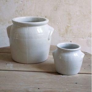 Pot à beurre et main à sel en céramique de Digoin, idéal pour le stockage des condiments