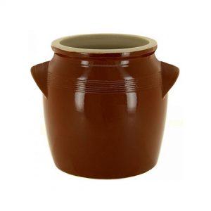 Pot à beurre brun tradition de la Manufacture de Digoin, première couleur réalisé par les faïenceries de DIGOIN