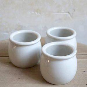 Pot à yaourt en grès de la faïencerie de Digoin, pot yaourt blanc pour yaourtière, pot à yaourt maison
