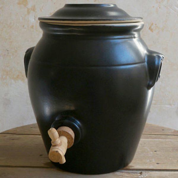 Pot à vinaigre – Vinaigrier – Noir