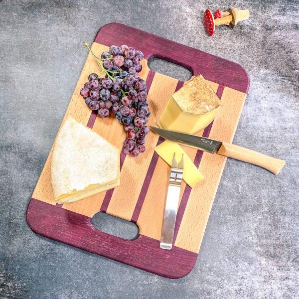Plateau de présentation Padauk – Planche à tapas Made in France