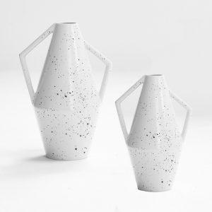 Vase original de la Manufacture de Charolles, vase en faïence de Charolles
