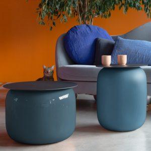 Table basse FLAT&SLIM fabriqué par la Faïencerie de Charolais en collaboration avec Fermob et le designer Alain Gilles, table basse en céramique de Charolles
