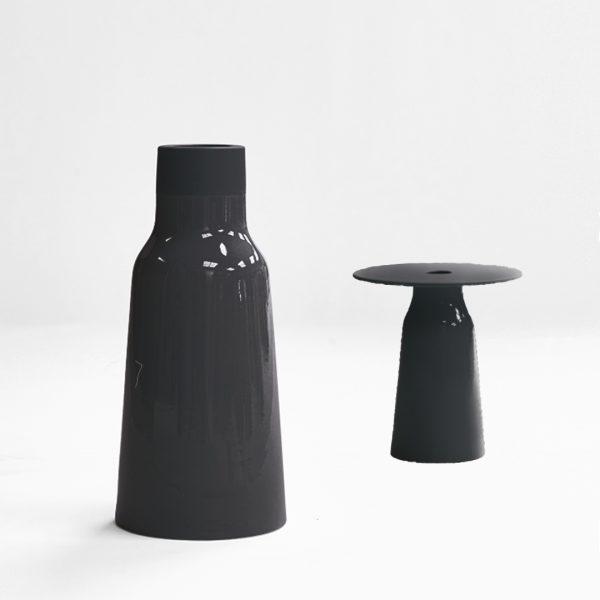 Vase Tandem – Noir ébène