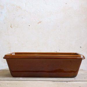 Moule à cake en grès et poteries de Digoin, idéal pour la cuisson de vos pâtisseries