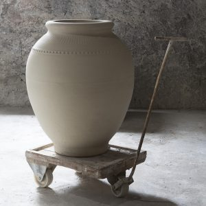 Jarre provençale en grès naturel de la Manufacture de Digoin, pot de fleurs Digoin
