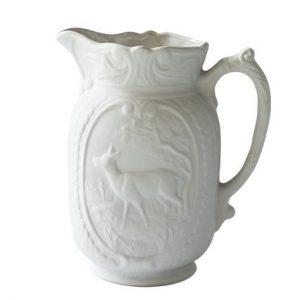 Pichet cerf 1L couleur Glaçon, pot à eau cerf de la Manufacture de Digoin