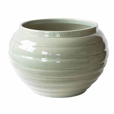 Cache-pot boule – Vert de gris